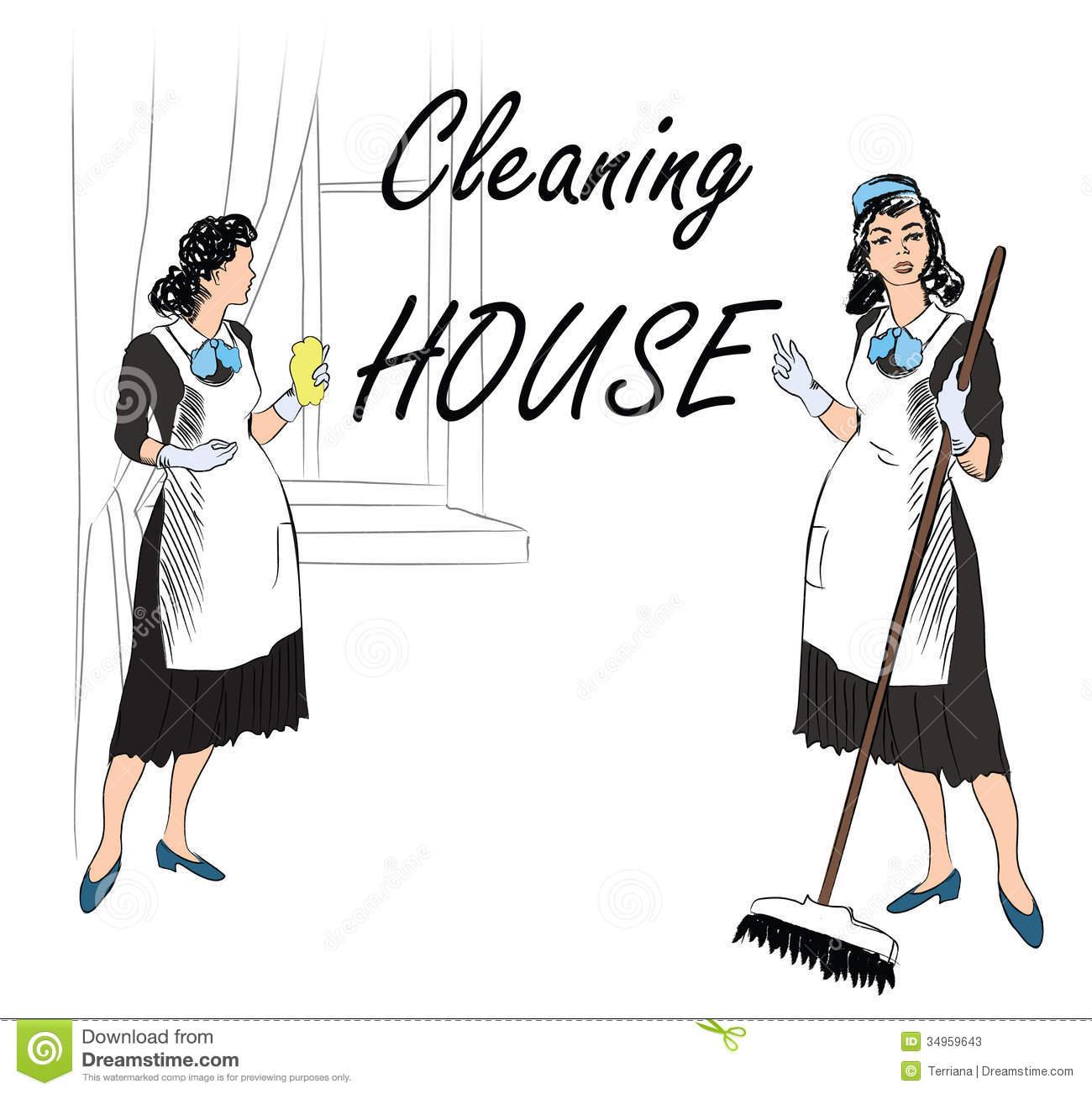 Retro clipart janitor #5
