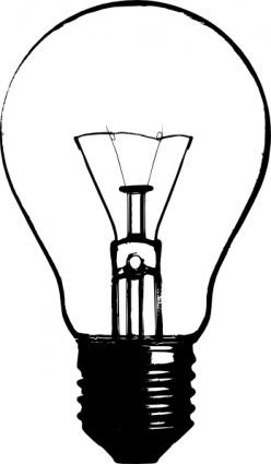 Retro clipart lightbulb #12