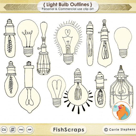 Retro clipart lightbulb #13