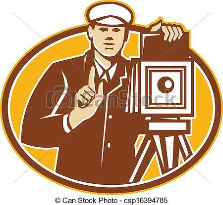 Retro clipart photographer #5