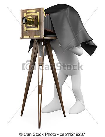 Retro clipart photographer #10