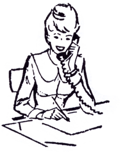 Retro clipart secretary #3