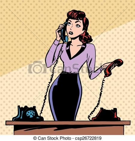 Retro clipart secretary #1