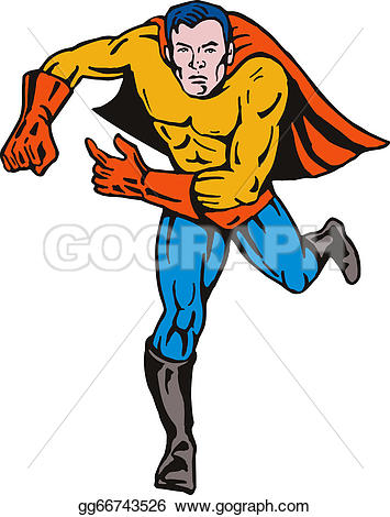 Retro clipart superhero #15