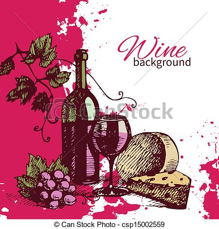 Retro clipart wine #12