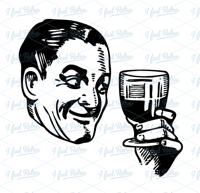 Retro clipart wine #7