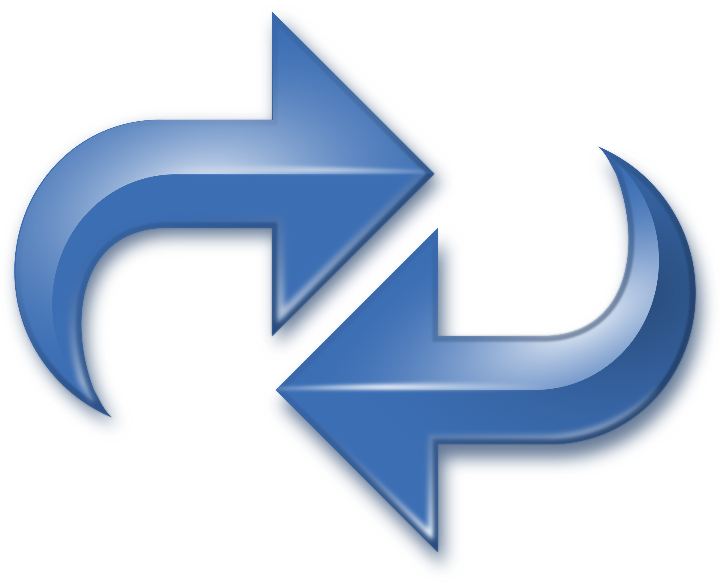 Reversed clipart Arrows Clipart Reversed Double Blue