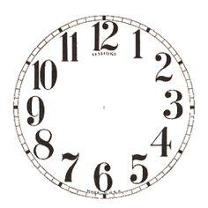Reversed clipart clock A wood 10 adhere Reverse