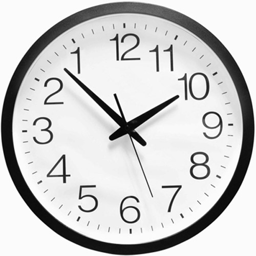 Reversed clipart clock LARGE UK Executive WALL
