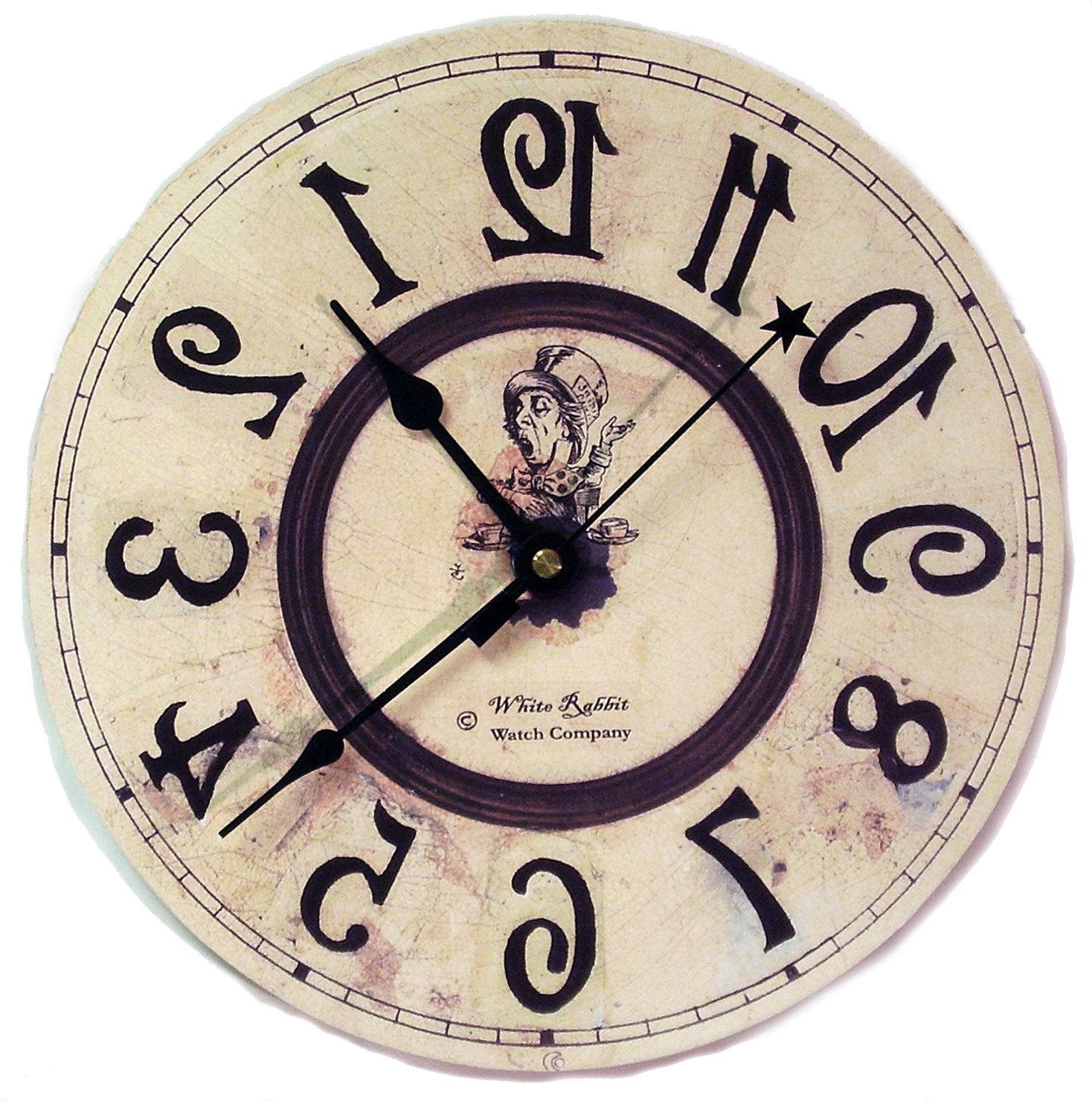 Reversed clipart clock Clock Alice Wonderland Wonderland in