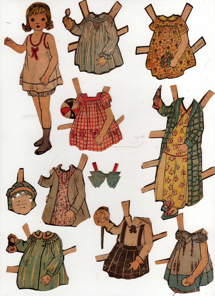 Reversed clipart clothing ~~~~~ reverse Paper Cartoons on