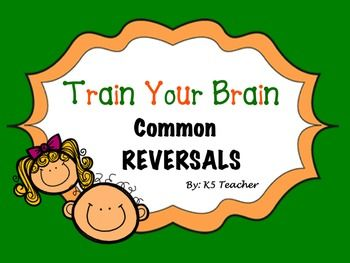 Reversed clipart word 25+ letters Reversals Common Reverse