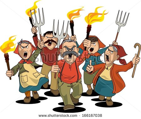 Revolution clipart angry crowd : Sic Deplorables  Tyrannis