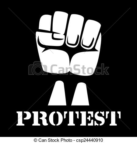 Fist clipart drawing raised Fist sign of protest sign