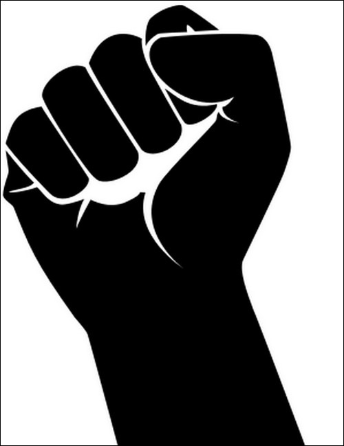 Drawn fist logo Your 50 Useful Vector hand