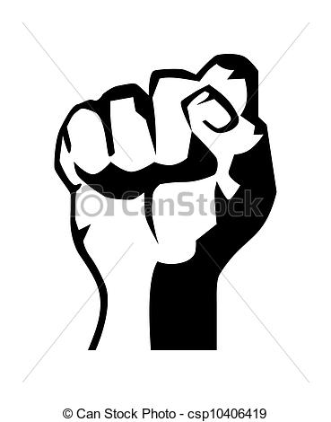 Revolution clipart fist Raised  size black and