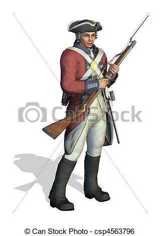 Revolution clipart french soldier Of Stock  Revolutionary 3D