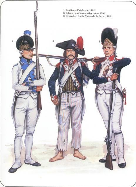 Revolution clipart french soldier De Fusilier campaign Ligne Infantryman