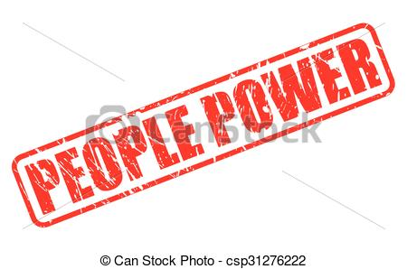 Revolution clipart people power Stock PEOPLE white over red