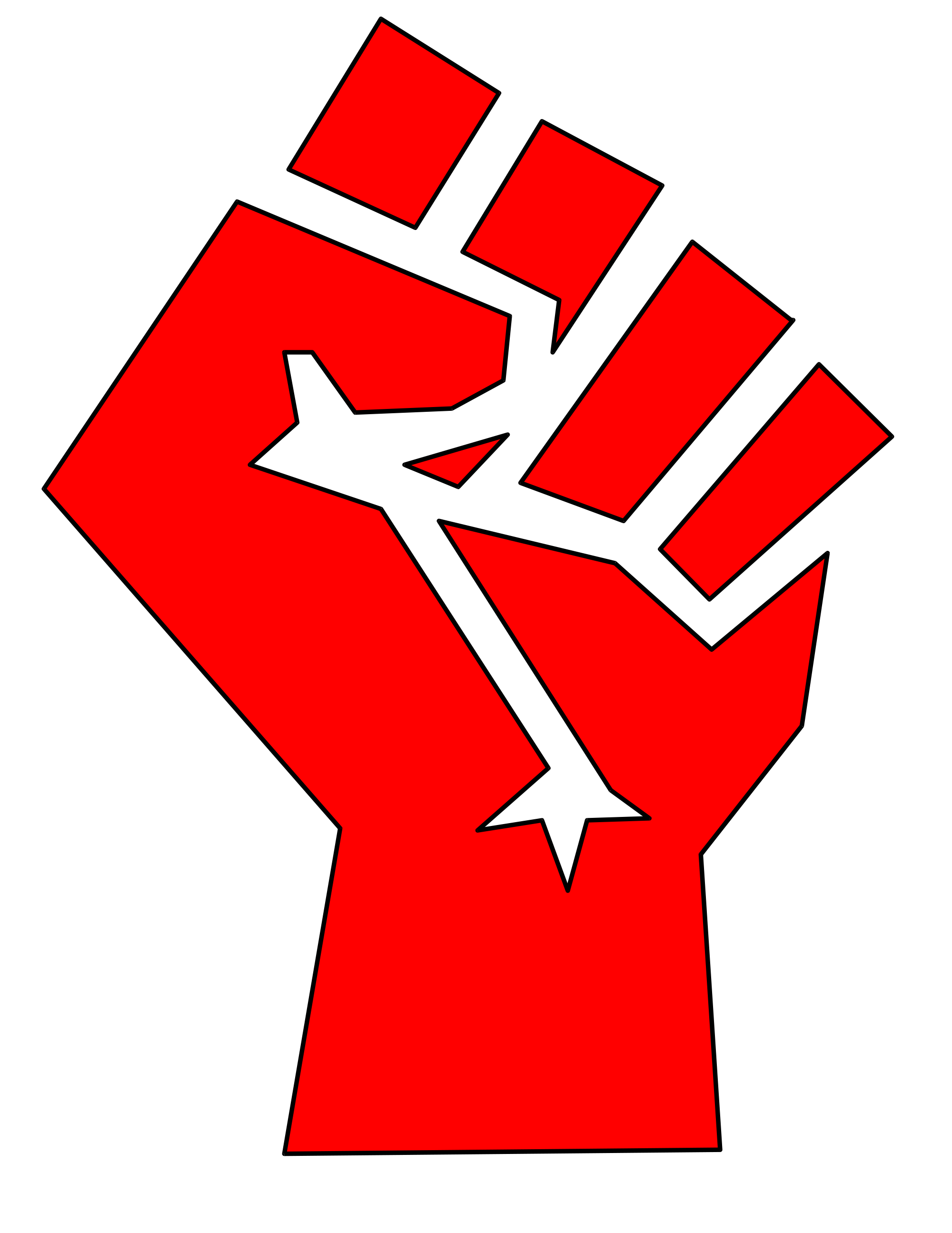 Fist clipart red Russian  the Communism During