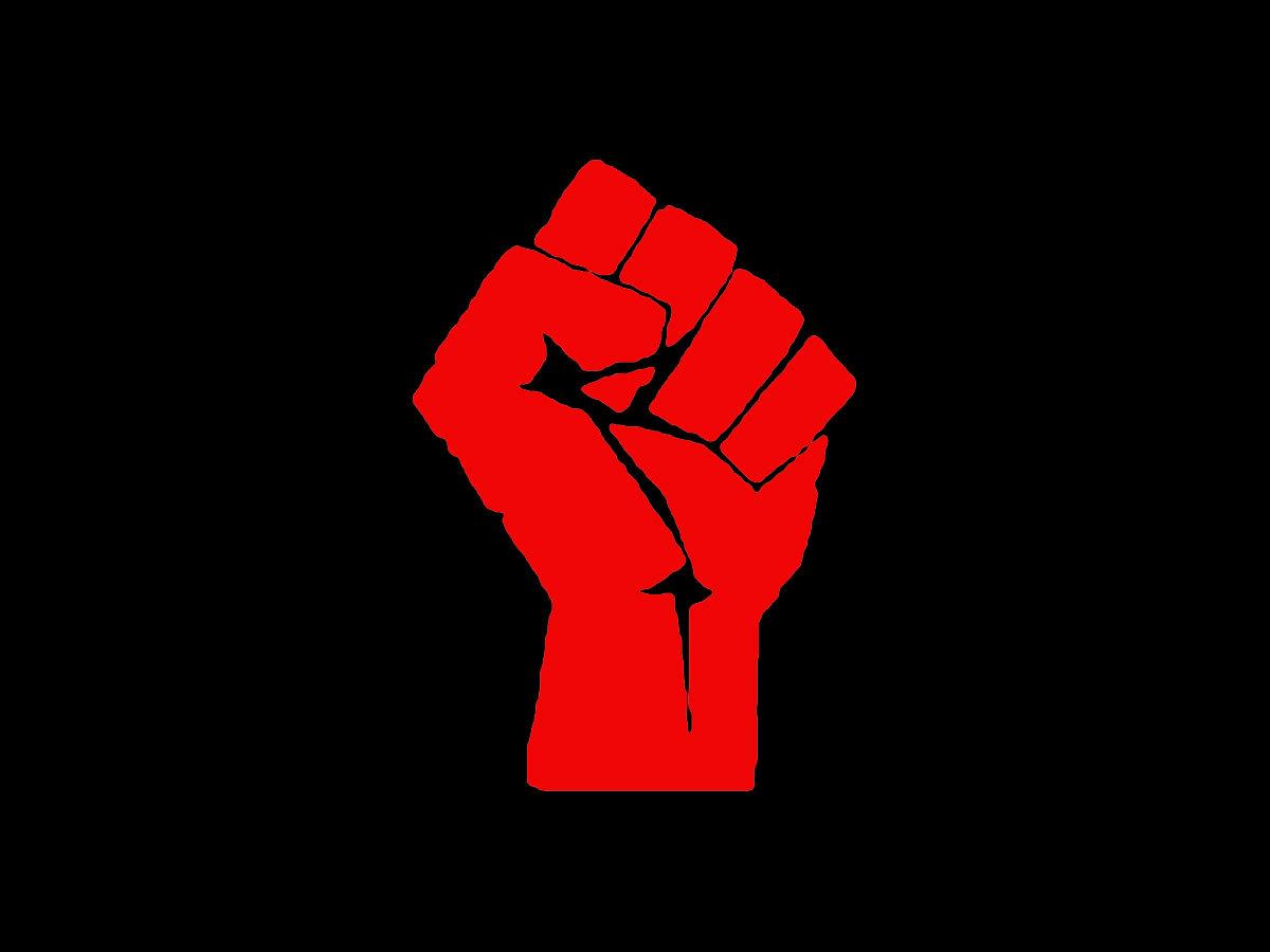 Revolution clipart solidarity / Fist on Solidarity Clip