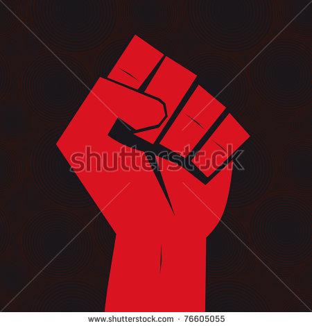 Revolution clipart strike On red revolt concept revolt