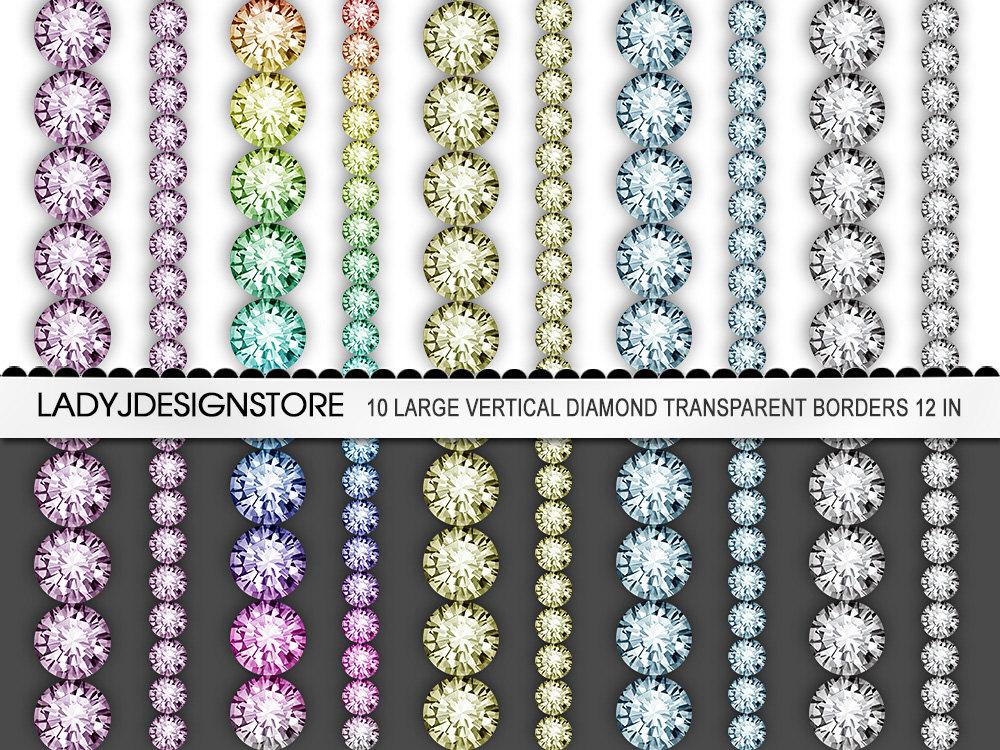 Rhinestone clipart Rhinestone 10 item? Border Diamond