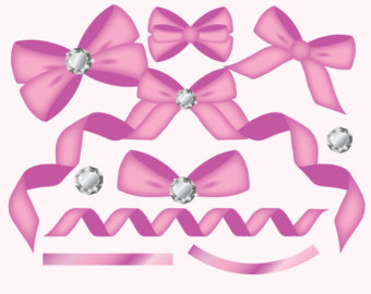 Rhinestone clipart Etsy Diamond ribbon clipart clipart
