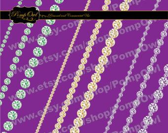 Rhinestone clipart diamond border Embellishments Gras Clipart 4c gold