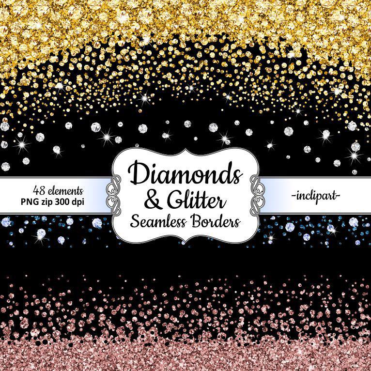 Rhinestone clipart diamond border  this border clipart Seamless