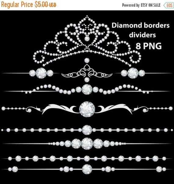 Rhinestone clipart diamond border 50% SALE diamond clipart diamond