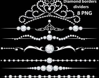 Rhinestone clipart modern border Diamond diamond dividers rhinestone dividers