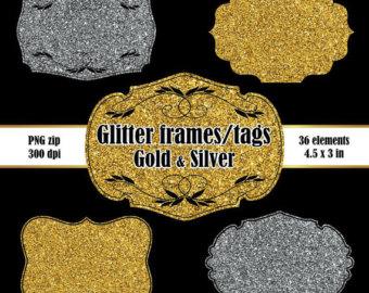 Rhinestone clipart silver frame Frames and frames glitter Silver