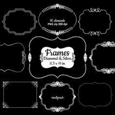 Rhinestone clipart silver frame PNG  frames Diamond frame
