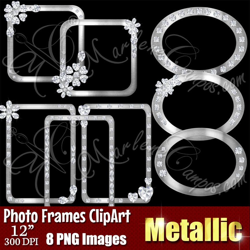 Rhinestone clipart silver frame Frame Diamond a is Frames