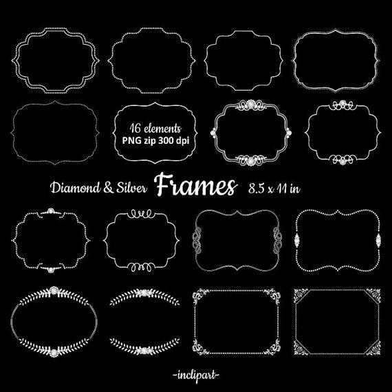 Rhinestone clipart silver frame Clipart Rhinestone a is Digital