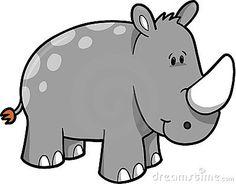 Rhino clipart Art Rhinoceros clipart Pinterest Vector