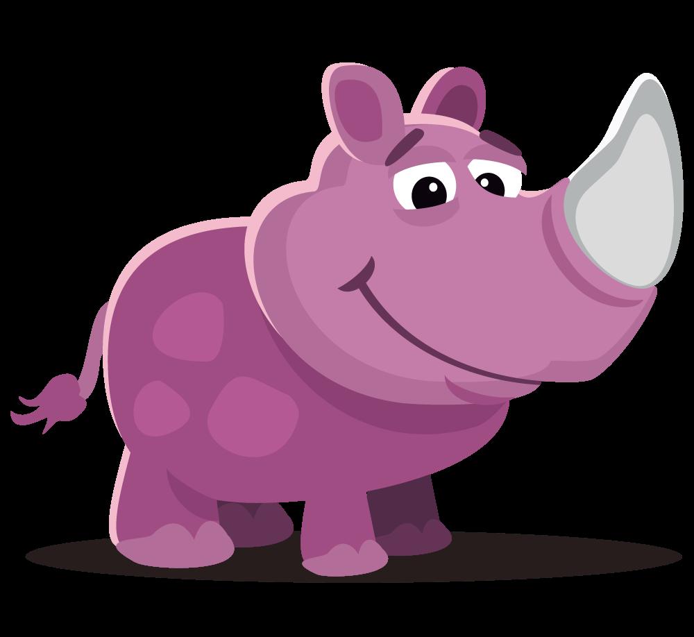 Rhino clipart Rhinoceros Free & Clip Art