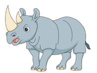 Rhino clipart Big rhinoceros Clip Illustrations Size: