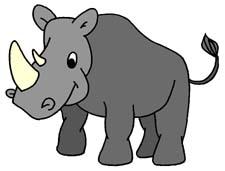 Rhino clipart Rhino Rhinoceros Clipart Free Clipart