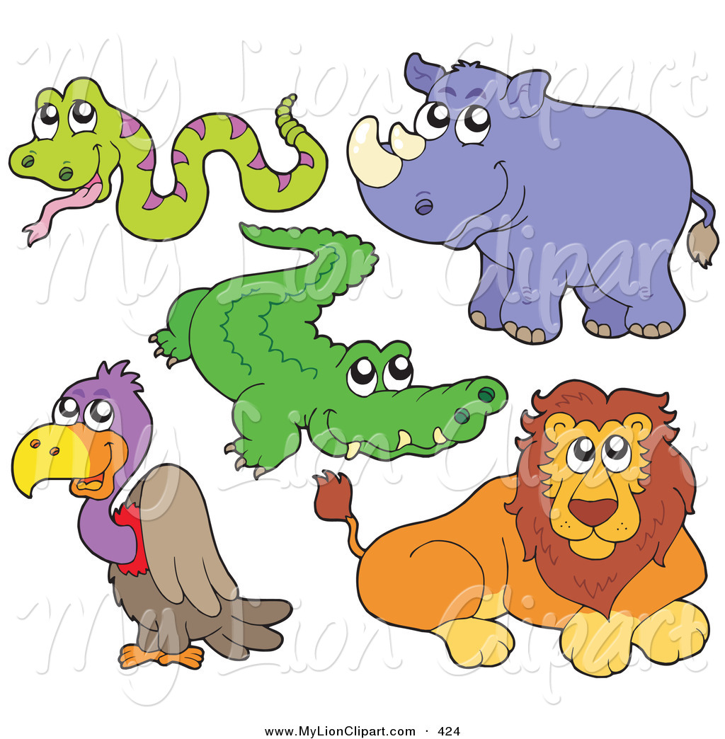 Alligator clipart baby snake Stock African Rhino Snake and