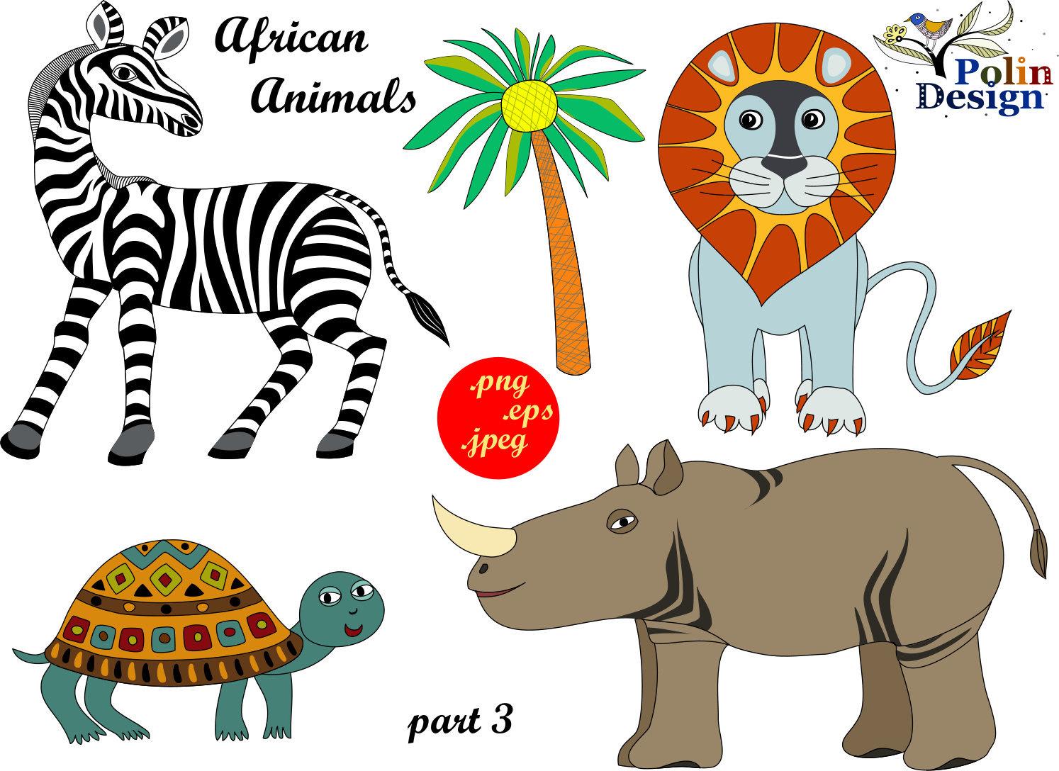 Rhino clipart african animal #10