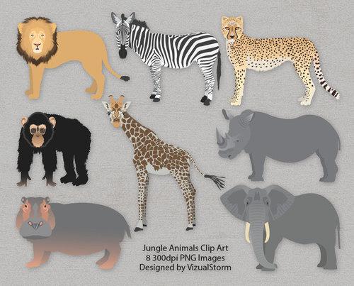 Rhino clipart african animal #7