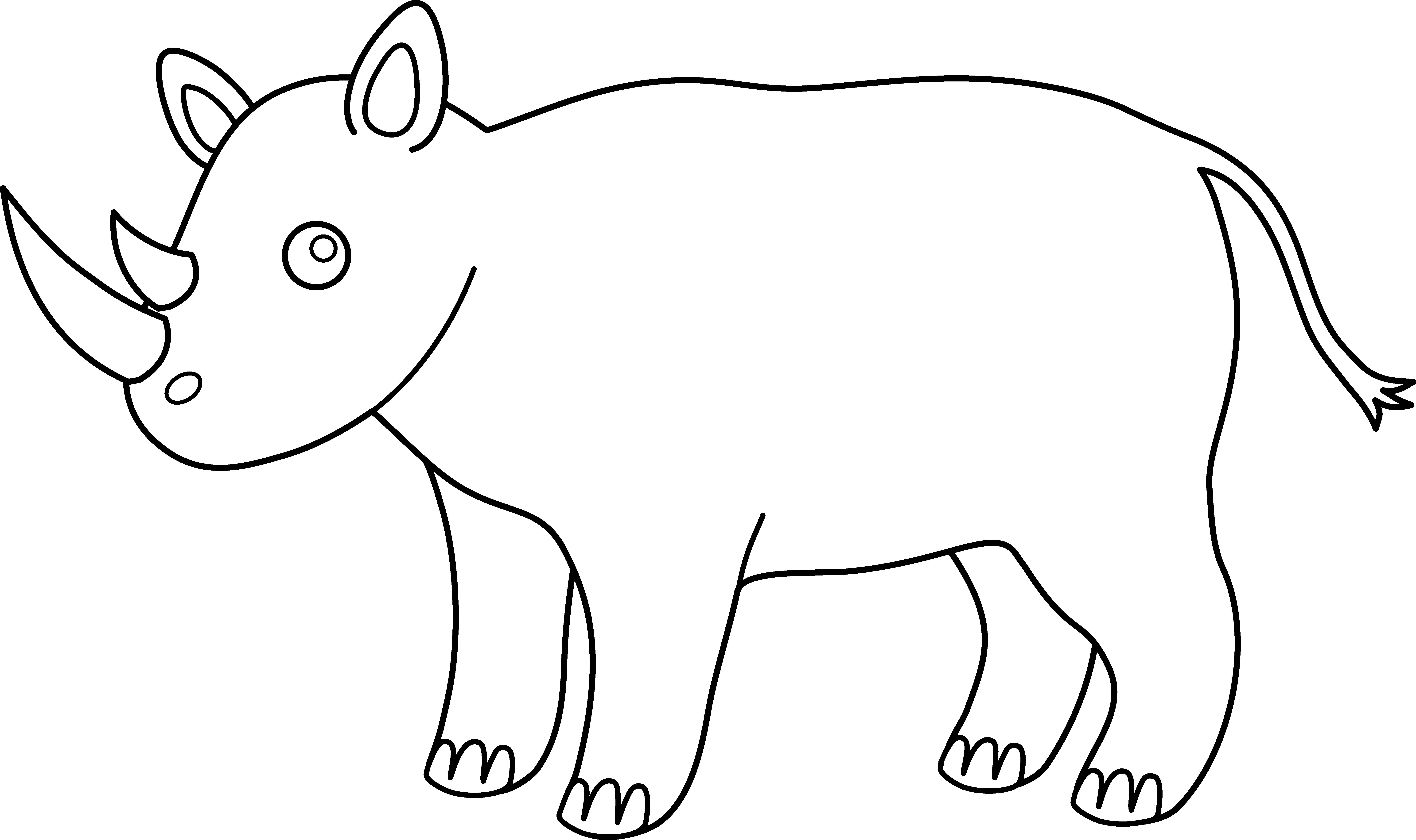 Rhino clipart african animal #2