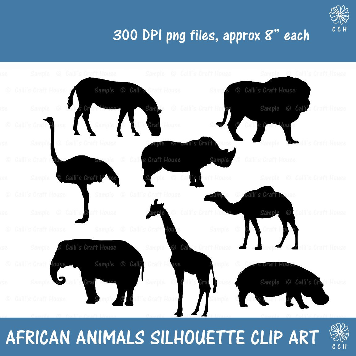 Rhino clipart african animal #3