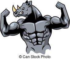 Charging Rhino clipart Rhino canstock29882522 Clip rhino Art