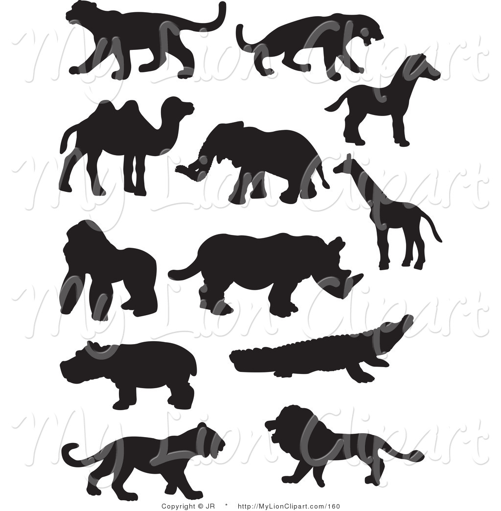 Wildlife clipart silhouette On Free of Silhouetted of