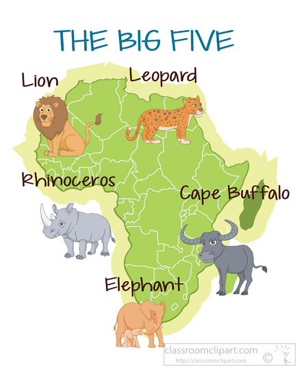Africa clipart animal science Kb big Africa five Size: