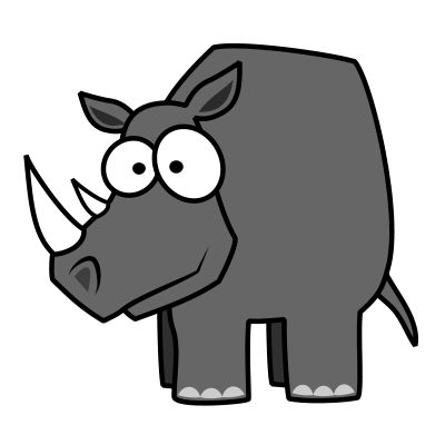 Drawn rhino simple How How & Tutorials to