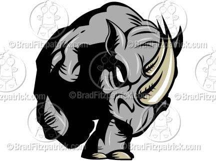 Drawn rhino clipart Cartoon  Clip Cartoon Rhino